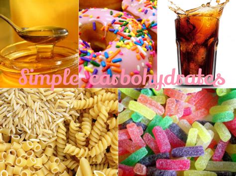 foods w carbohydrates simple carbohydrates