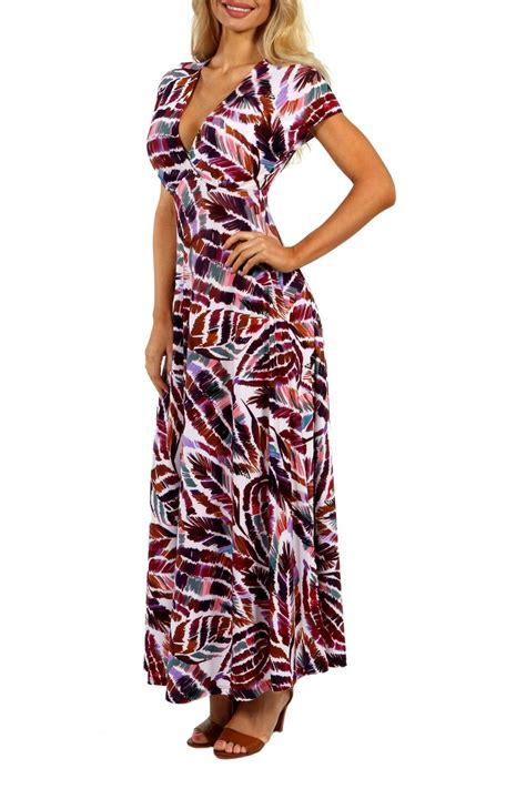 24 7 comfort apparel 24 7 comfort apparel eye maxi dress from california by the