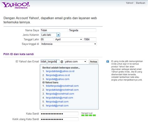 membuat email yaho indonesia huruf sandi new calendar template site
