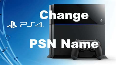 reset psn online how to change your psn name on ps4 youtube