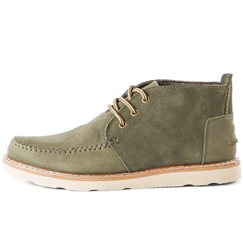 toms chukka boot mens boots in olive