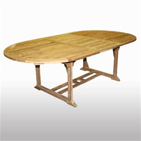 oval teak dining table irongate garden elements