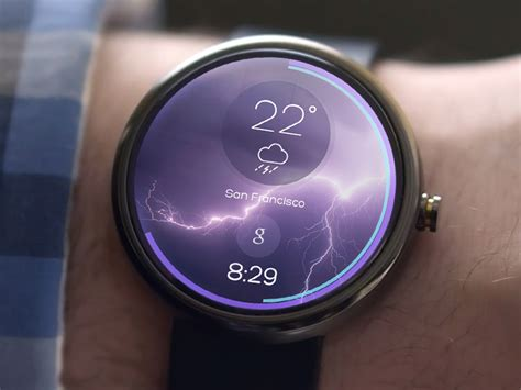 android wear moto 360 android wear weather by kreativa studio dribbble