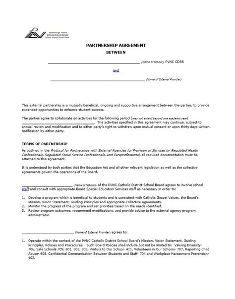 partnering agreement template 40 free partnership agreement templates business