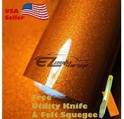 Gloss Glitter Orange Metallic Sparkle Vinyl Car Wrap