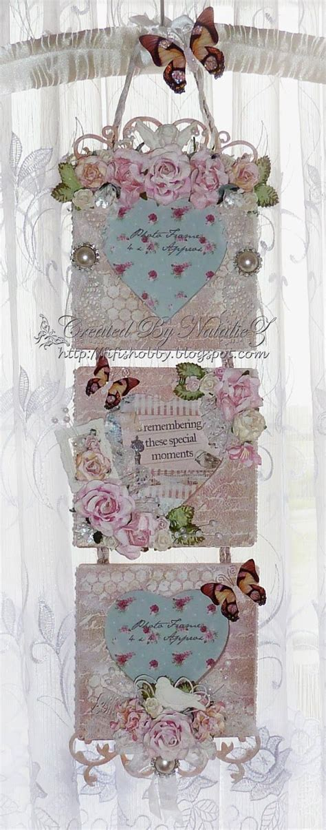 my creativity life shabby chic photo frame card