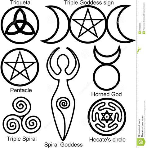 imagenes simbolos wicca conjunto de los s 237 mbolos de wiccan fotos de archivo