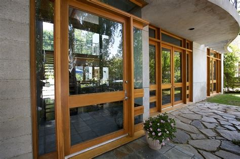 Patio Doors Los Angeles Custom Wood Windows And Door Frames Contemporary Patio