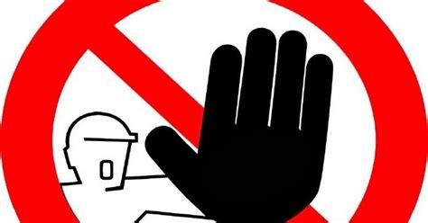 Stiker Tanda Dilarang Masuk rambu rambu larangan di proyek media poject