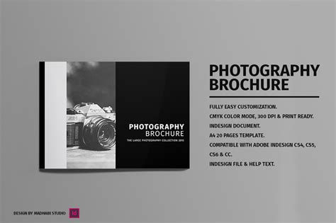 minimal photography brochure brochure templates on