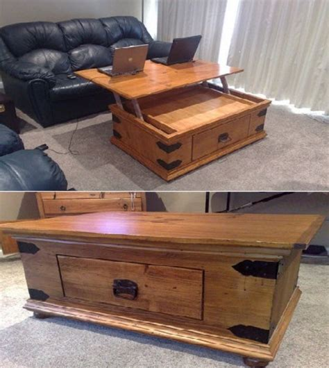 woodwork build lift top coffee table  plans