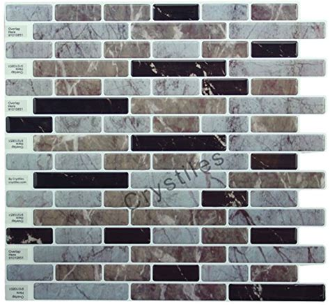crystiles peel stick tile self adhesive backsplash