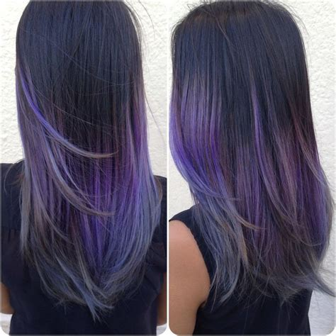 Small Extension Clip Color Ombre Hairclip Warna Kecil Highlight blue hair fading into purple ombre reddish purple hair color hair colors idea in niebieskie