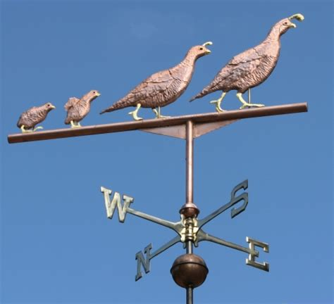 Quail Weathervane Quail Weathervane Two Parents With Two West