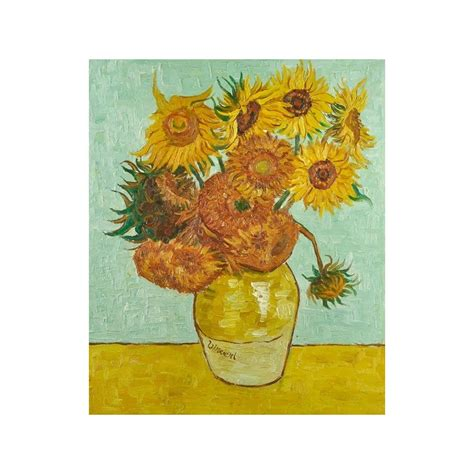 Vase With 12 Sunflowers by Quot Vase With Twelve Sunflowers Quot By Vincent Gogh