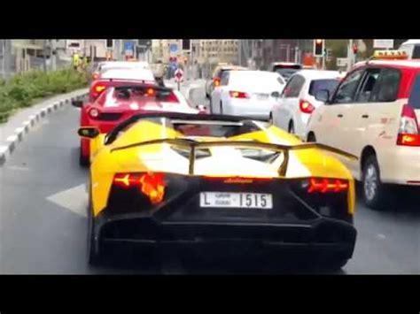 Lamborghini Burning Lamborghini Aventador Burn In Dubai