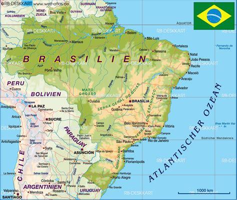 brazil physical map hoeckmann