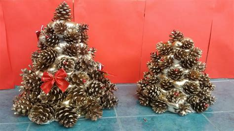 how to make pine cones christmas tree youtube