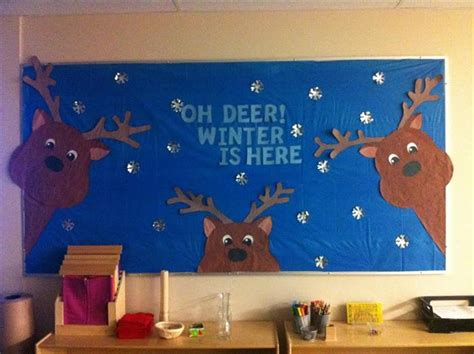 quot oh deer winter is here quot winter themed bulletin board