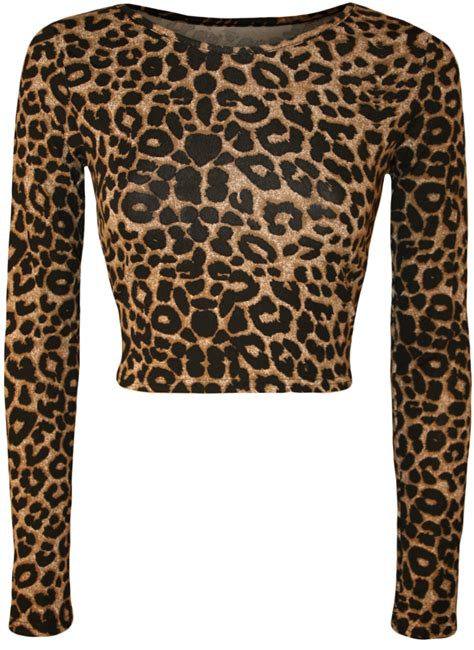 Sleeve Animal Print Top new womens aztec animal print crop top leopard