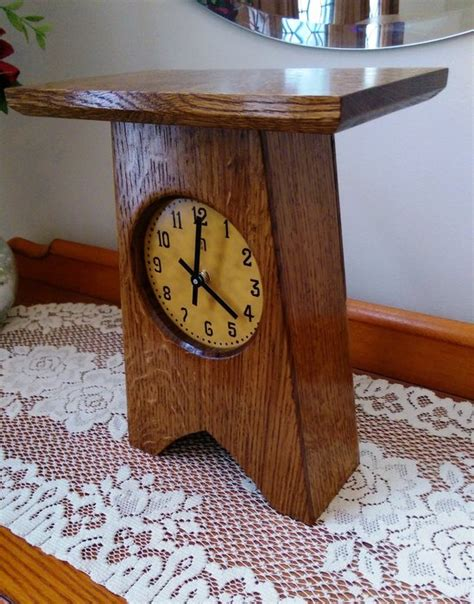 small clocks for craft projects small arts and craft clock by alongiron lumberjocks