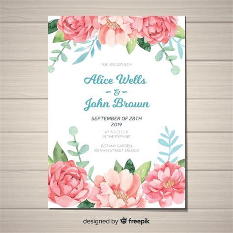 convite de casamento flores em aquarela modelo de convite de casamento bonito flores de pe 244 nia
