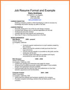 top inspiring resume format sles exle resume for