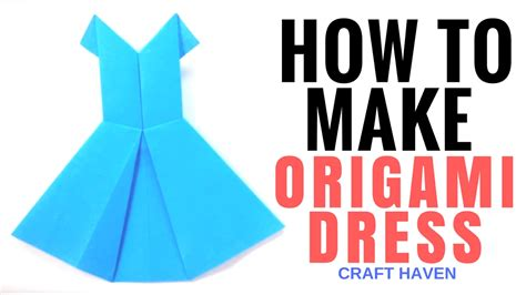 How To Make An Origami Dress - how to make origami dress easy tutorial for beginners