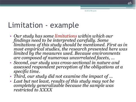 exle of thesis scope and limitation exle of limitations of the study in thesis