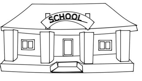 School Clipart Black And White school building black and white clipart