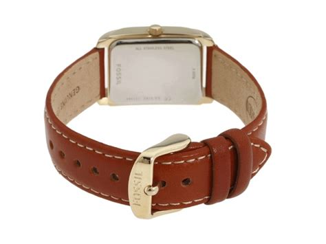 Longstrap Fossil Authentic fossil es2782 genuine leather silver gold tone authentic ebay