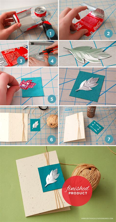 How To Make A Birthday Card With Photo Up Cycle Craft Pop Can Card Blog Botanical Paperworks