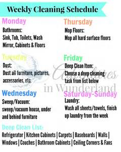 How To Keep A Clean House Schedule using a weekly cleaning schedule to stay on track