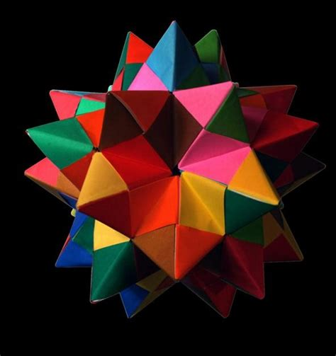 Paper Dodecahedron - modular origami how to make a truncated icosahedron