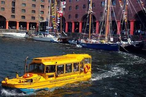 boat ride liverpool queen to take ride on liverpool s yellow duckmarines
