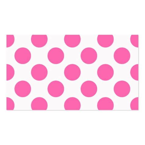 hot pink polka dots business card template zazzle