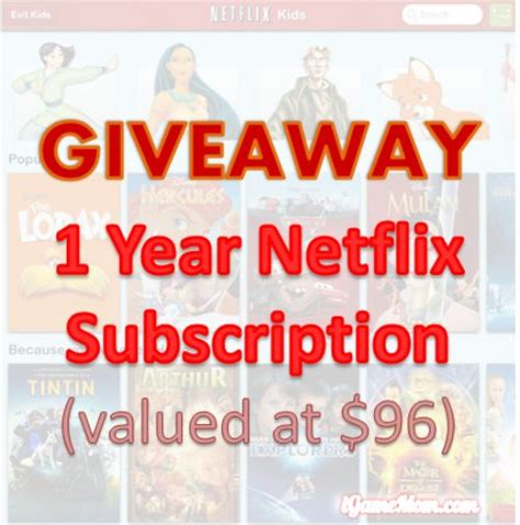 Subscription Giveaway - giveaway netflix one year subscription