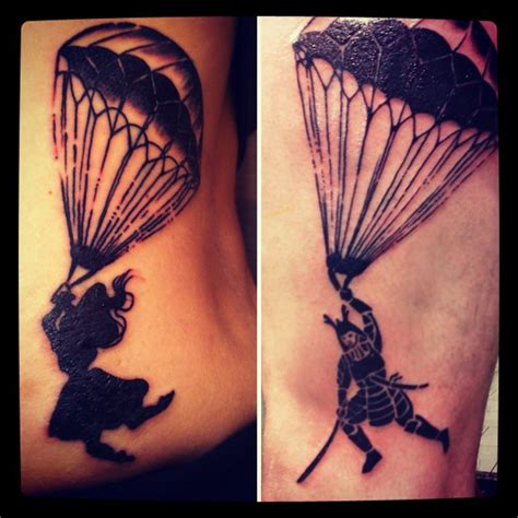 skydiving tattoos parachute ink