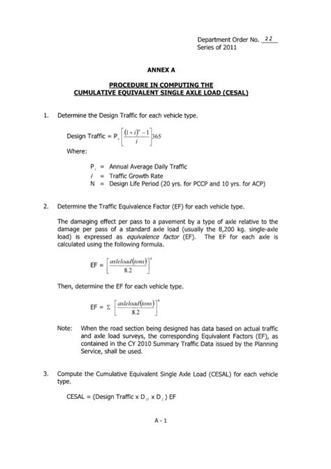 dpwh design guidelines criteria and standards do 022 s2011