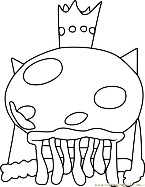 spongebob jellyfish coloring page king jellyfish spongebob coloring pages coloring pages