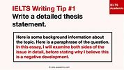 Image result for how to write thesis statement in ielts