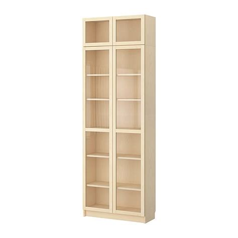 ikea billy bookcases with glass doors