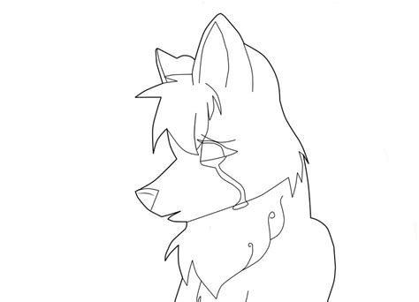 crying wolf lineart by friday11 on deviantart