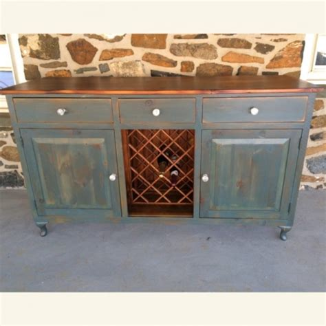 wine bottle and cooler buffet furniture from the barn