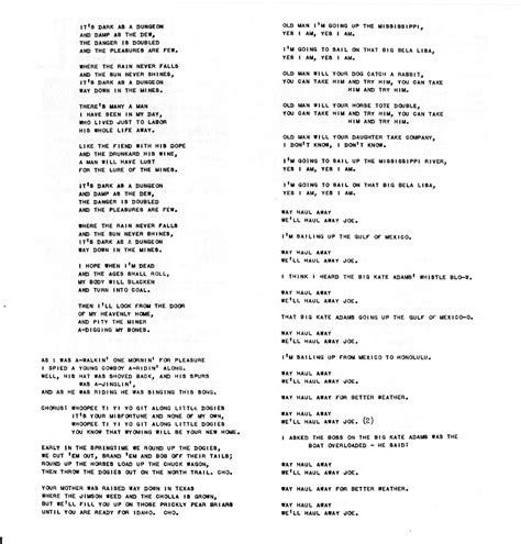 printable lyrics this land is your land cisco houston on lp this land is my land