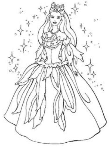 Gambar Mewarnai Baju Pesta Indah Gaun Putri Cantik Jelita