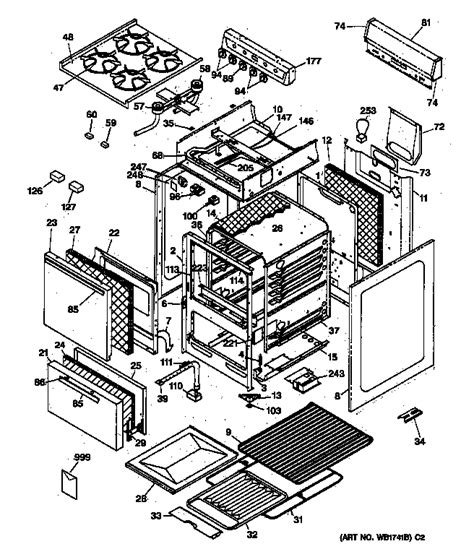 hotpoint oven parts diagram hotpoint gas range parts model rga520pw2 sears partsdirect