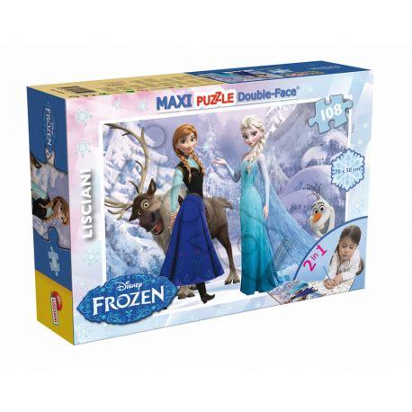 maxi frozen puzzle dwustronne maxi 108 el frozen