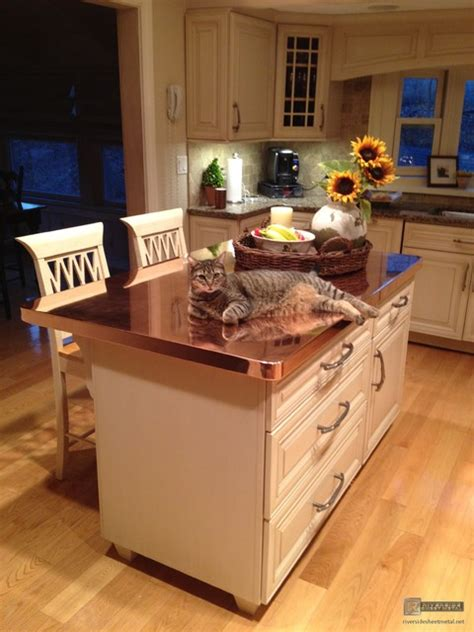 Copper Kitchen Countertops by Copper Counter Tops Modern Kitchen Worktops Boston By Riverside Sheet Metal