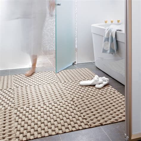 carpet in the bathroom weave a story modern bathroom chicago by flor